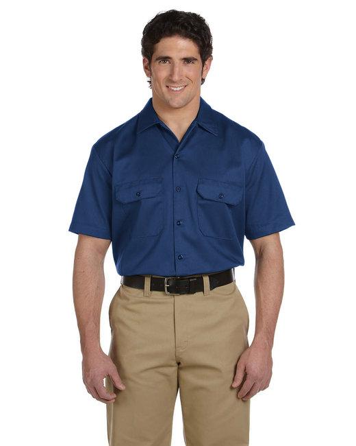 Dickies Unisex Tall Short-Sleeve Work Shirt - Navy