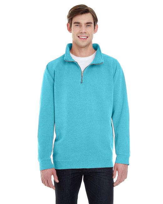 Comfort Colors Adult Quarter-Zip Sweatshirt - Lagoon Blue