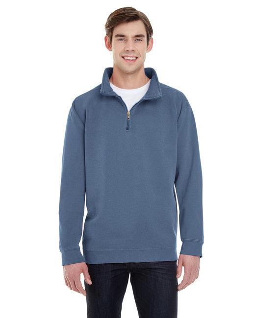 Comfort Colors Adult Quarter-Zip Sweatshirt - Blue Jean