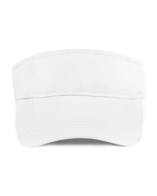 Anvil Adult Solid Low-Profile Twill Visor - White
