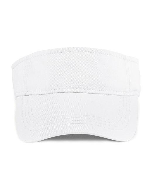 Anvil Adult Solid Low-Profile TwillVisor - White