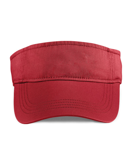 Anvil Adult Solid Low-Profile TwillVisor - Red