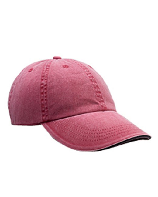 Anvil Adult Solid Low-Profile Sandwich Trim Twill Cap - Red Rock