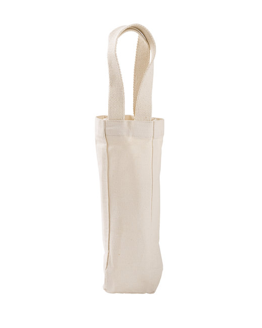 Liberty Bags Single Bottle Wine Tote - Natural