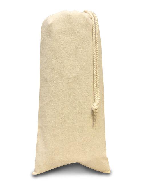 Liberty Bags Drawstring Wine Tote - Natural