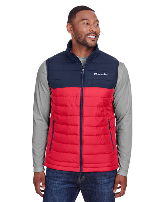 Columbia Men's Powder Lite™ Vest - Mtn Red/ Col Nvy