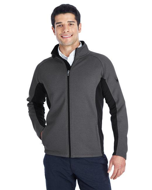 Spyder Men's Constant Full-Zip Sweater Fleece Jacket - Polar/ Blk/ Blk