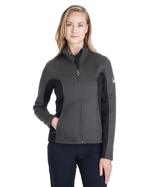 Spyder Ladies' Constant Full-Zip Sweater Fleece Jacket - Polar/ Blk/ Wht