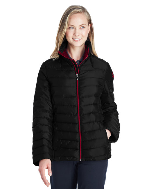 Spyder Ladies' Supreme Insulated Puffer Jacket - Black/ Red