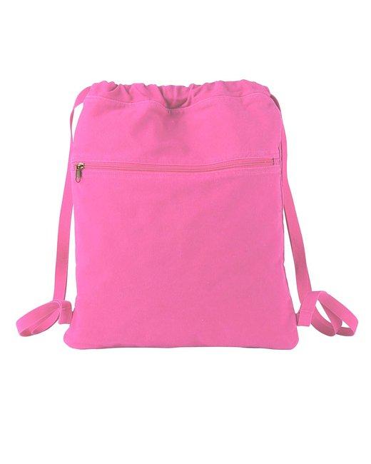 Authentic Pigment 14 oz. Pigment-Dyed Canvas Cinch Sack - Flamingo