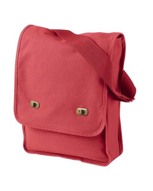 Authentic Pigment 14 oz. Pigment-Dyed Canvas Field Bag - Poppy