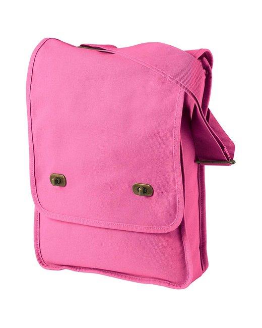 Authentic Pigment 14 oz. Pigment-Dyed Canvas Field Bag - Flamingo