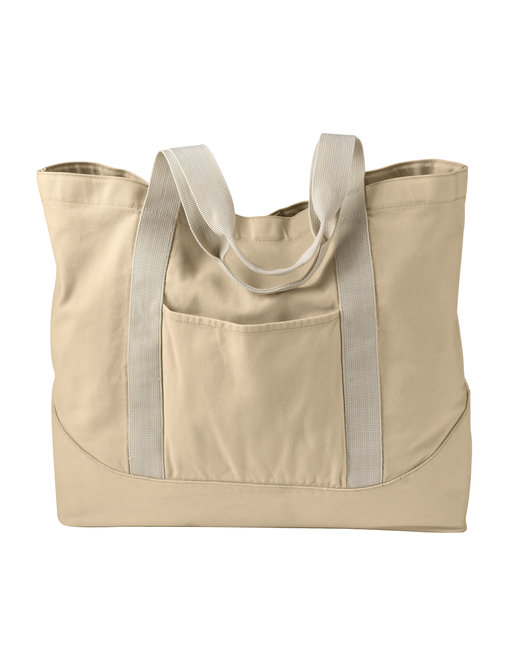 Authentic Pigment 14 oz. Pigment-Dyed Large Canvas Tote - Putty