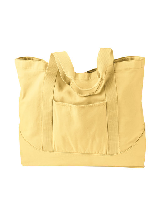 Authentic Pigment 14 oz. Pigment-Dyed Large Canvas Tote - Goldenrod