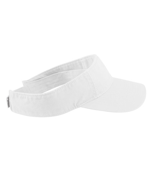 Authentic Pigment Direct-Dyed Twill Visor - White