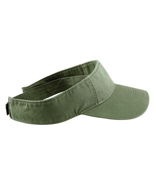 Authentic Pigment Direct-Dyed Twill Visor - Olive
