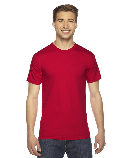American Apparel Unisex Fine Jersey USA�Made T-Shirt - Red