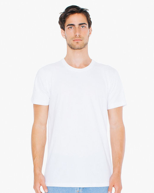 American Apparel Unisex Tall Fine Jersey Short-Sleeve T-Shirt - White