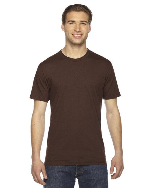 American Apparel Unisex Fine Jersey Short-Sleeve T-Shirt - Brown