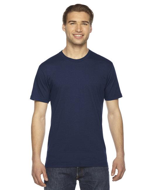 American Apparel Unisex Fine Jersey Short-Sleeve T-Shirt - Navy
