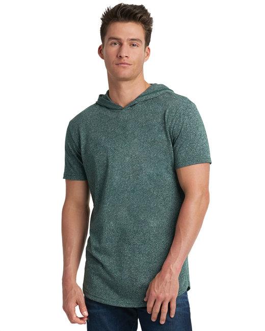 Next Level Unisex Mock Twist Short Sleeve Hoody T-Shirt - Forest Green