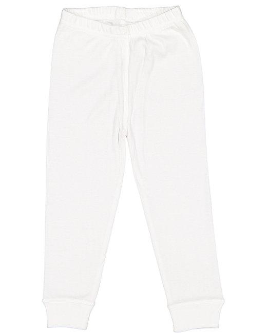 Rabbit Skins Toddler Baby Rib Pajama Pant - White