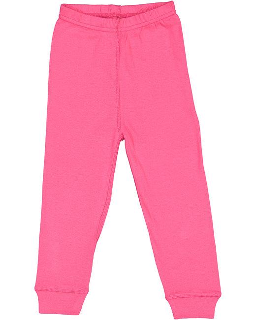 Rabbit Skins Toddler Baby Rib Pajama Pant - Hot Pink