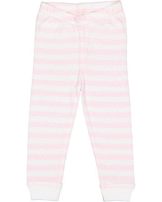 Rabbit Skins Toddler Baby Rib Pajama Pant - Blrna/ W Str/ Wh