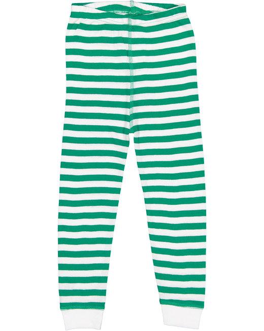 Rabbit Skins Toddler Baby Rib Pajama Pant - Klly Wh Str/ Wht