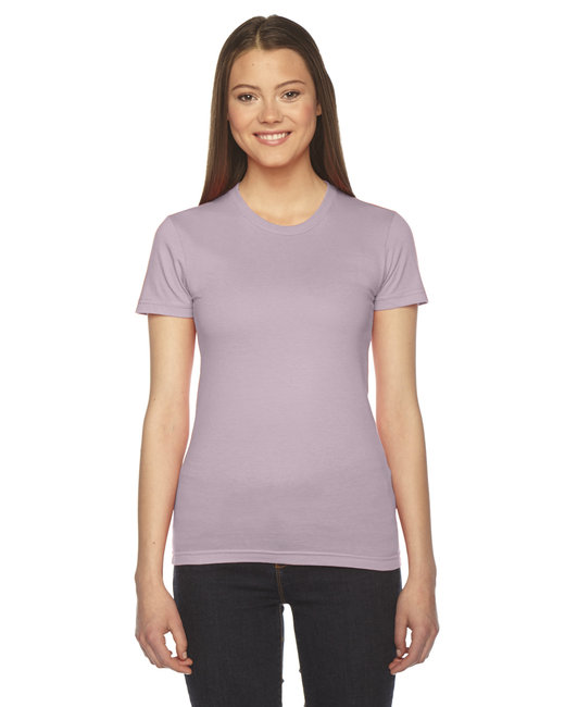 2102 American Apparel Ladies' Fine Jersey USA Made Short-Sleeve T-Shirt
