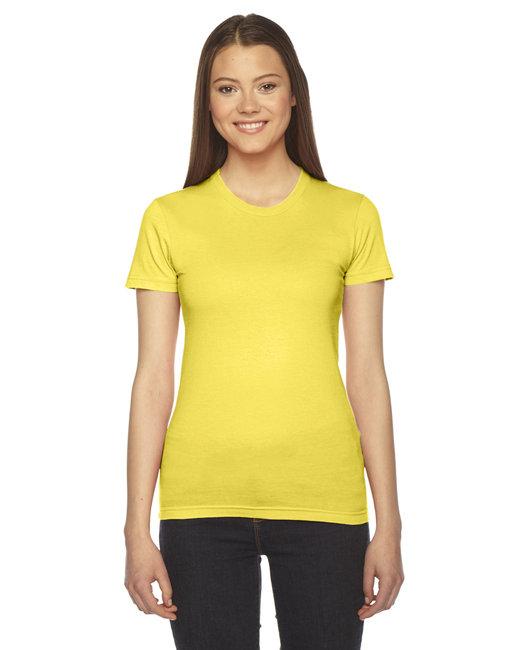American Apparel Ladies' Fine Jersey Short-Sleeve T-Shirt - Sunshine