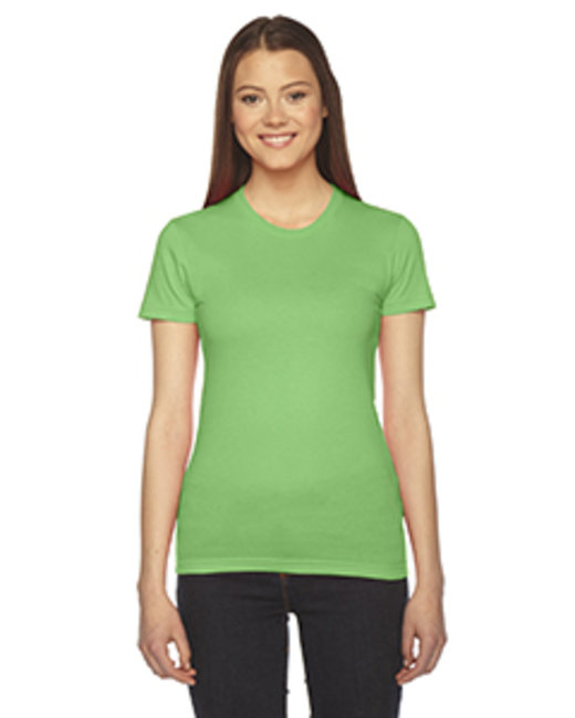 American Apparel Ladies' Fine Jersey Short-Sleeve T-Shirt - Grass
