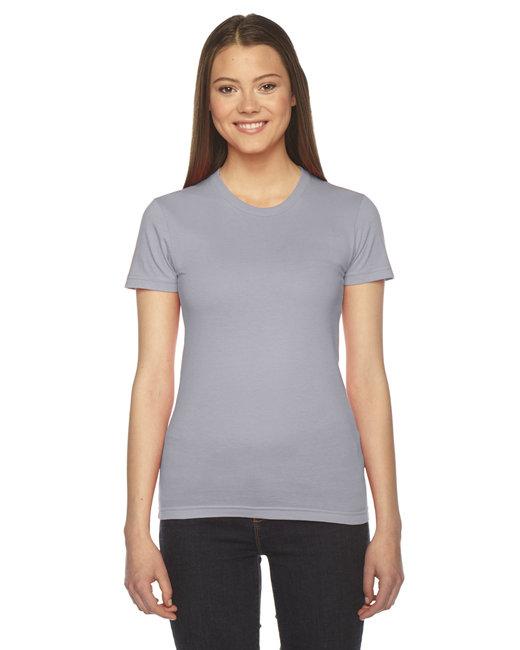 American Apparel Ladies' Fine Jersey Short-Sleeve T-Shirt - Slate