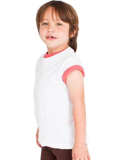 American Apparel Toddler Organic Fine Jersey Short-Sleeve T-Shirt - White