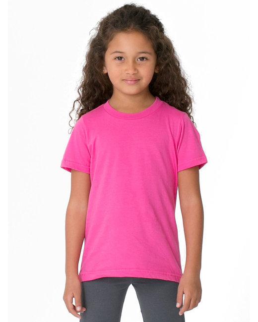 American Apparel Toddler Fine Jersey Short-Sleeve T-Shirt - Fuchsia