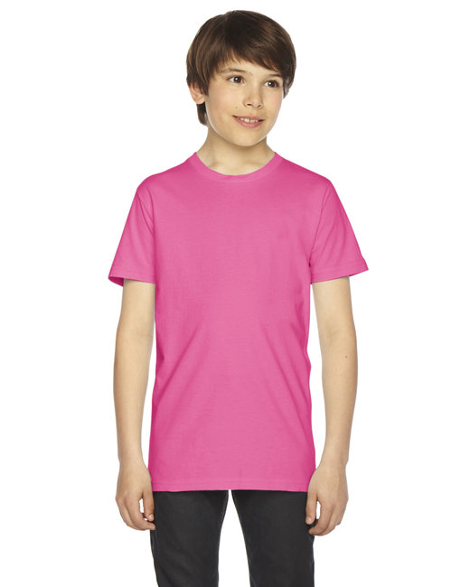 American Apparel Youth Fine Jersey Short-Sleeve T-Shirt - Fuchsia