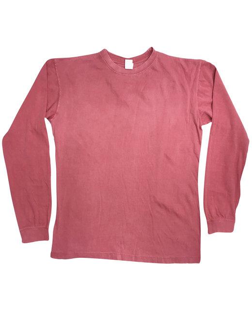 Collegiate Cotton Long Sleeve T-Shirt - Crimson