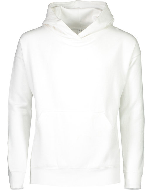 LAT Youth Pullover Fleece Hoodie - White