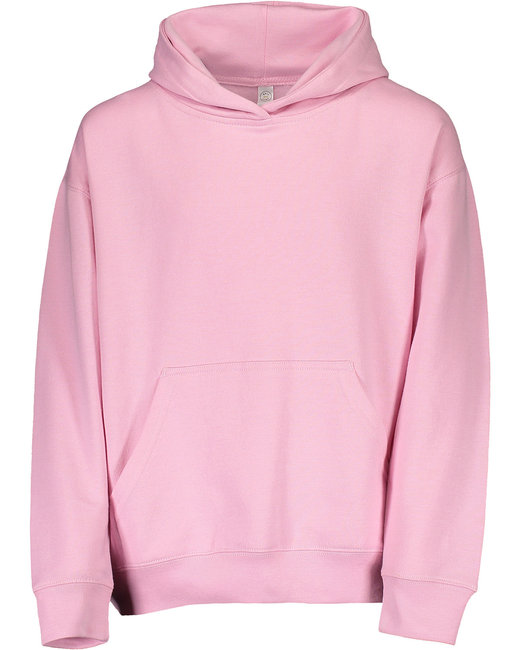 LAT Youth Pullover Fleece Hoodie - Pink