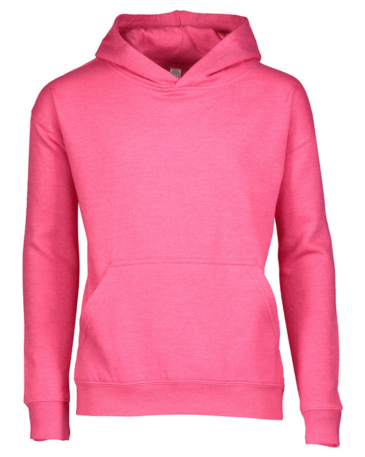 LAT Youth Pullover Fleece Hoodie - Vintage Hot Pink