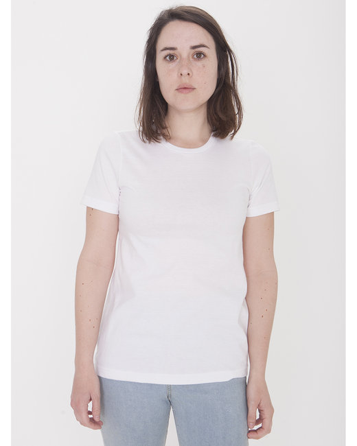 American Apparel Ladies' Organic Fine Jersey Classic T-Shirt - White