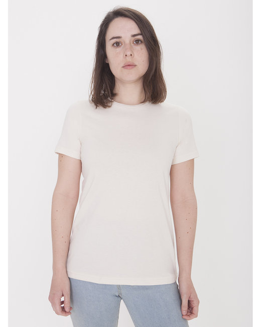 American Apparel Ladies' Organic Fine Jersey Classic T-Shirt - Organic Natural