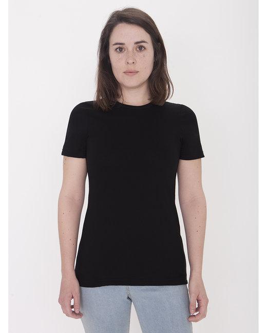 American Apparel Ladies' Organic Fine Jersey Classic T-Shirt - Black