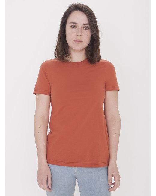 American Apparel Ladies' Organic Fine Jersey Classic T-Shirt - Cedar