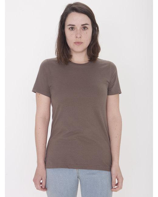 American Apparel Ladies' Organic Fine Jersey Classic T-Shirt - Walnut
