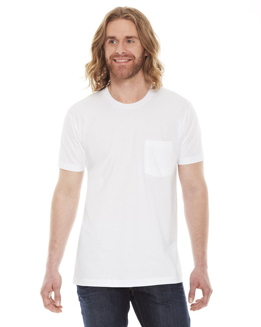 American Apparel Unisex Fine Jersey Pocket Short-Sleeve T-Shirt - White