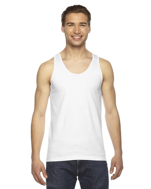 American Apparel Unisex Fine Jersey USA Made Tank - White
