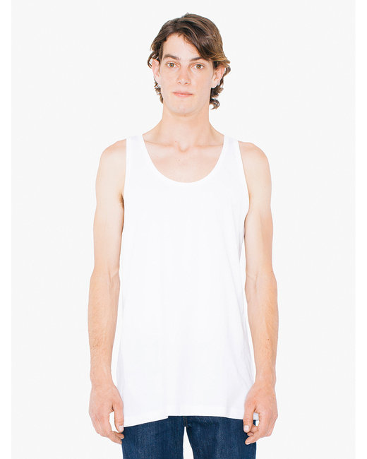American Apparel Unisex Tall Fine Jersey Tank - White