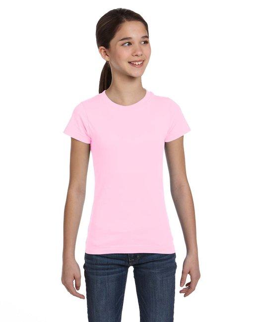 LAT Girls' Fine Jersey T-Shirt - Pink