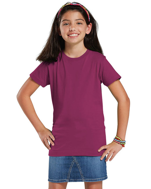 LAT Girls' Fine Jersey T-Shirt - Fuchsia